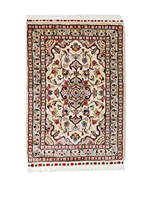 L'EDEN DEL TAPPETO Alfombra Kashmirian F/Seta Beige/Multicolor 60 x 89 cm