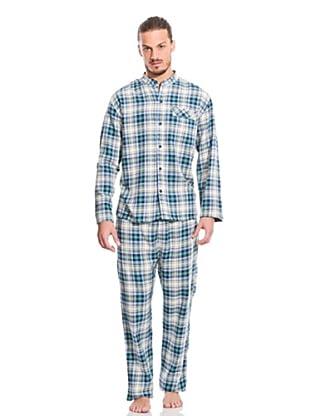 Springfield Pyjama (Blau/Grün/Weiß)