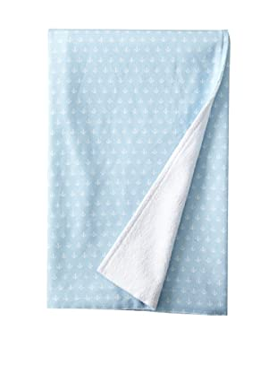 Nine Space Nautical Anchor Terry Beach Peshtemal (Powder Blue)