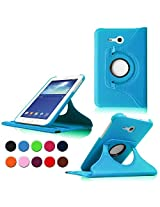 STONG Samsung Galaxy Tab 3 Lite 7.0 Rotating Case Cover- Premium Leather 360 Degree Multi-angle Swivel Stand Case Cover for Galaxy Tab 3 Lite 7.0-inch Tablet Case Cover Shell,Sky Blue (Not Fit for Samsung Galaxy Tab 3 7.0)
