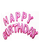 AwesomedaysIn Metallic HAPPY BIRTHDAY(13 Letters) Foil Balloons (PINK)
