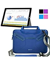 Evecase Surface Pro 4 Messenger Bag, Multi-functional Neoprene Messenger Case Tote Bag for Microsoft Surface Pro 3 / Surface Pro 4 Windows Tablet PC - Blue