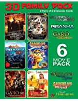 3D Family Pack 6 Movie Pack (Universal Soldier:  Day Of Reckoning/The Nutcracker/Piranha 3D/Garfield'S Petforce/Garo/Baal Haunman)