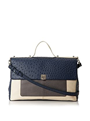 Charlotte Ronson Women's Mixed Exotic Satchel (Grey)