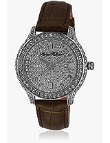 H Ph12988jsbz/04 Brown/Silver Analog Watch Paris Hilton