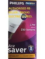 Philips Base E27 2.7-Watt LED Bulb (Pack of 2, Warm White)