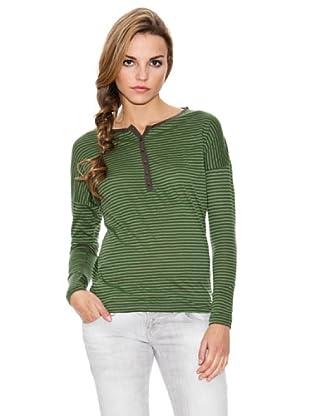 Timeout Camiseta ML Rayas (Verde / Negro)