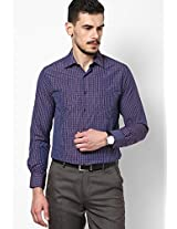 Purple Checked Formal Shirt