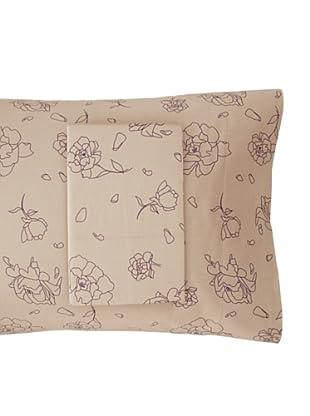 Twinkle Living Pair of Rose Pillowcases, Walnut/Grape, Standard
