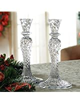 Waterford Crystal Seahorse Abstract Candlesticks, New