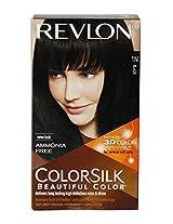 Revlon Colorsilk Hair Color with 3D Color Technology Black 1N, 91.8ml