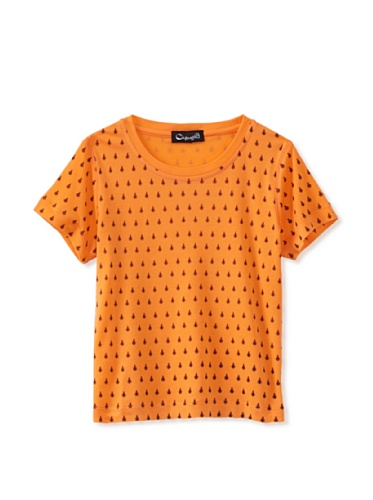 A for Apple Rat T-Shirt with Lady Bug Print (Orange)