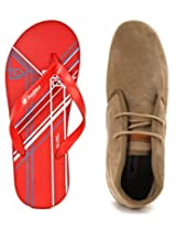 Gas Brixton Sand Men Casual Shoes with Lotto Slippers