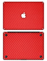 XGear EXO Skin Protective Vinyl Skin for 11-Inch MacBook Pro - Red Carbon Fiber (MBA11-EXO-RED)