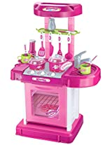Berry Toys Play and Carry Plastic Play Kitchen, Pink