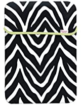 Merkury Innovations 15.6-Inch Reversible Notebook Case, Paradise Orchid/Black Zebra (MB-XL1BZ)