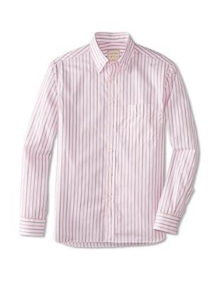 Billy Reid Men's Orleans Woven Shirt (White/Red)