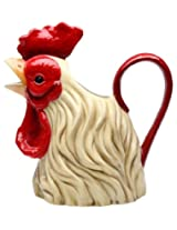 Appletree Design A Day In the Country Rooster Water Pitcher, 10-1/8-Inch