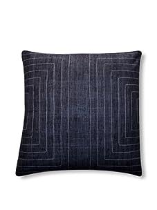 "Jiti Streams 20"" x 20"" Silk Pillow (Charcoal)"
