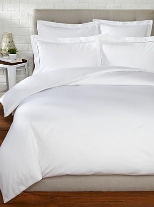 Mason Street Textiles 400TC Organza Hemstitch Duvet Set (White)