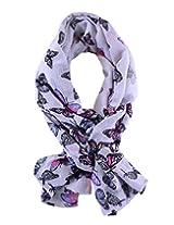 IR Accessories Women summer printed scarf (Free Size ) (White)
