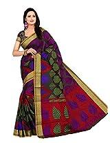 Multi Color Monica Banarasi Silk Handloom Saree