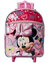 Disney Girl's Minnie Mouse 12 Inch Rolling Backpack