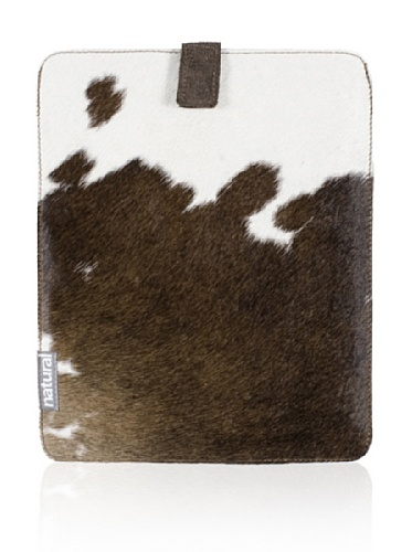 Natural iPad Cowhide Case (Brown & White)