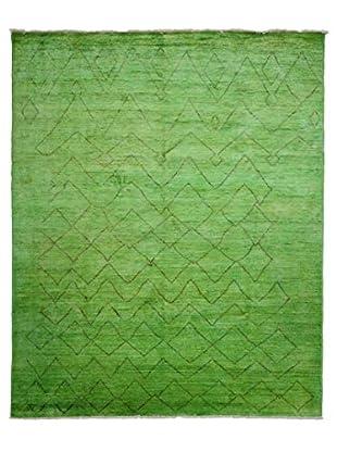 Darya Rugs Moroccan Oriental Rug, Green, 7' 10