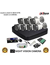DAHUA HDCVI 8CH DH-HCVR4108C-S2 DVR + DAHUA HDCVI DH-HAC-HFW1000RP BULLET CAMERA 7Pcs + 1 TB WD HDD + 3+1 COPPER CABLE + POWER SUPPLY (FULL COMBO)