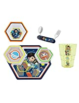 Miles From Tomorrowland 4 Piece Feeding Set (Plate, Bowl, Cup, And Folding Fork And Spoon)