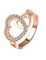 Yiwu Crystal WHITE 18K ROSE GOLD METAL RING Fashion Jewellery for WOMEN
