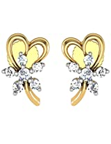 Avsar Real Gold and Diamond Divya Earrings AVE050