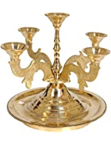 Stand for Five Candles - Brass Statue