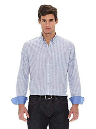 Turrau Camisa Cuadro Doble Ventana Bicolor (Gris / Azul)