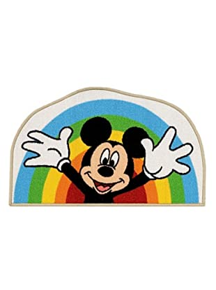 ABC Tappeti Alfombra Rainbow Mickey Mouse (Multicolor)