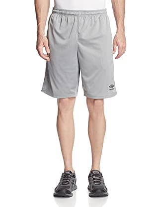 Umbro Men's High/Low Mesh Shorts (Steel)