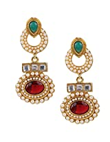 Ethnic Indian Bollywood Jewelry Set Traditional Fashion Pearl EarringsISREA033MG
