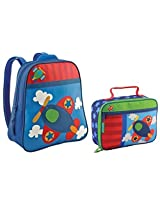 Stephen Joseph Go Go Backpack and Classic Lunchbox Set (Airplane)