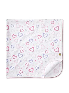 Noa Lily Baby Large Hearts Receiving Blanket (Pink)