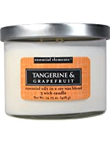 Candle-lite Essential Elements 14-3/4-Ounce 3 Wick Candle with Soy Wax, Tangerine and Grapefruit
