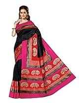 Bhavi Creations Presents Printed Sanganeri Silk Saree Exclusive Foil Print