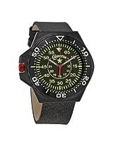 Converse Foxtrot Culture Black Dial Black Leather Unisex Watch
