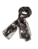 Purple Box Jewelry Valentine's Day Heart Scarf or Mothers Day Scarf (Clover Black)