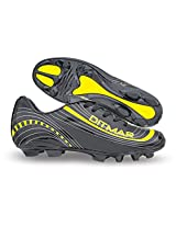 Nivia Men's Ditmar PVC Black and Yellow Football Shoes - 11 UK