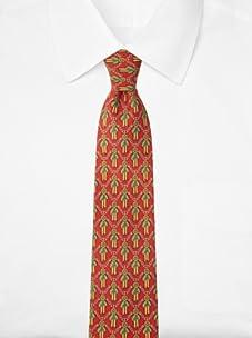Hermès Men's Ribbon Tie, Red/Green/Yellow, One Size