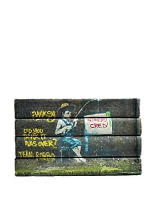By Its Cover Decorative Reclaimed Books Graffiti Series V, Set of 4