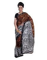 Parichay Women's Silk Saree(Brown & Black)