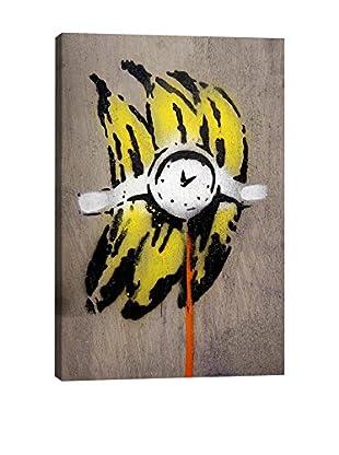 Banksy Banana Bomb Gallery Wrapped Canvas Print