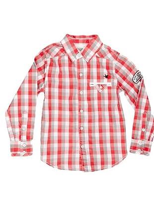 Naf Naf Chevignon Camisa Bolsillo (coral / gris)